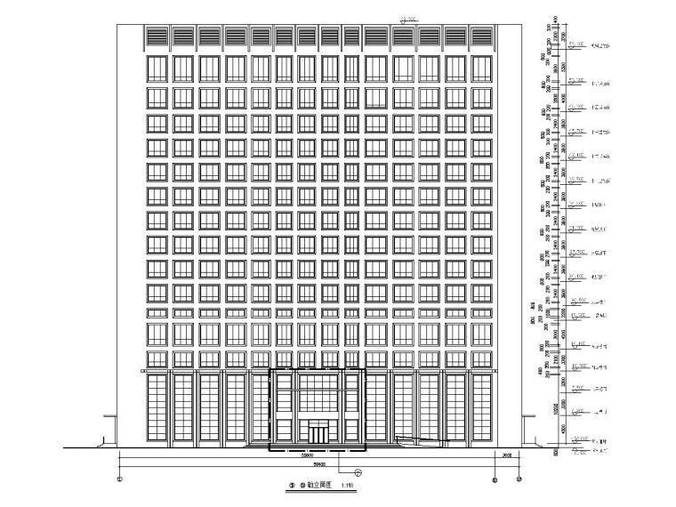 甘肃16层框架剪力墙医院全套建筑结构图