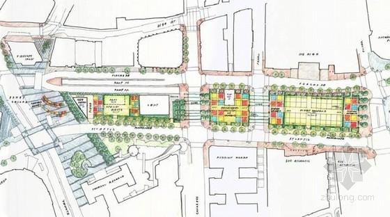 [罗斯肯尼]滨水码头地区公园景观规划设计方案(英文方案)-总平面