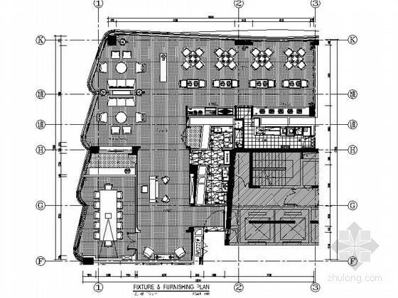 [安徽]商务特区商务酒店高档行政酒廊CAD装修施工图(含效果)