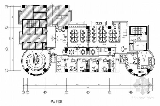 [深圳]著名创投公司现代高档办公室施工图(含效果图)
