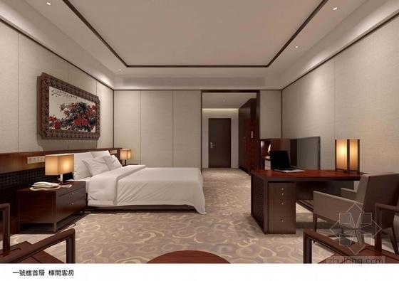 [广东]南方园林特色别墅宾馆改造概念性设计方案标准客房意向图