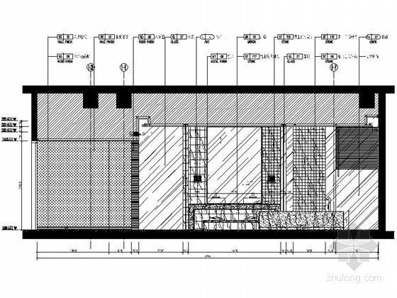 [福建]豪华游艇会所SPA装修设计施工图按摩房立面图