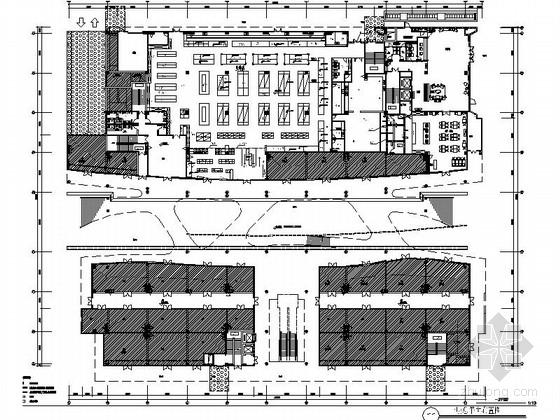 [原创]高档综合商业大楼装修CAD施工图(含效果)