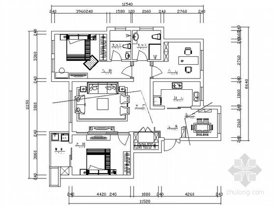 简欧风格三居室装修图(含效果)