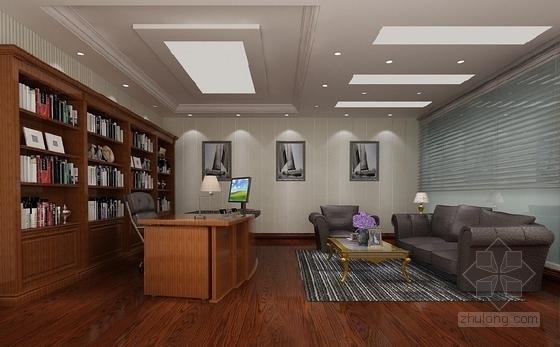 [安徽]时尚售楼处室内设计装饰CAD施工图(含效果)办公室效果图