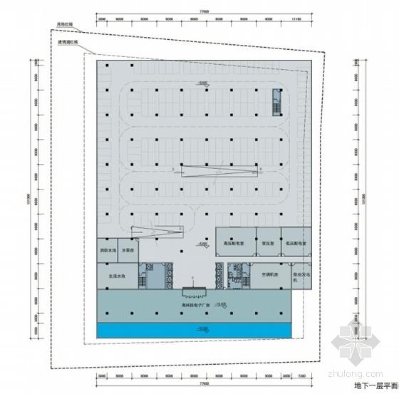 [深圳]裂口磐石造型高层科技大厦建筑设计方案文本-裂口磐石造型高层科技大厦建筑平面图