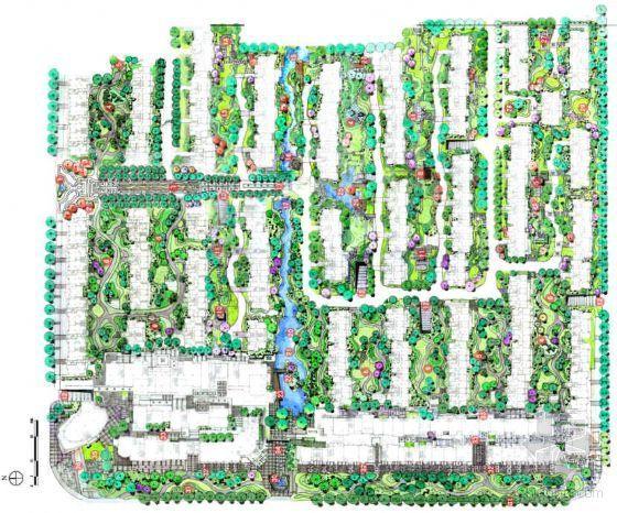 [江苏常熟]某绿地老街样板段景观设计方案