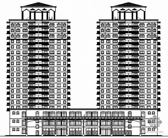 某十九层宾馆建筑施工图