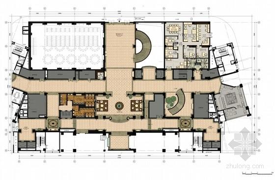 [福建]豪华五星级现代商务休闲度假酒店公共区装修室内设计方案