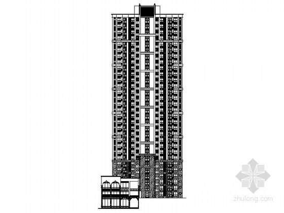 [安徽]30层现代风格住宅建筑施工图(棚户区改造)