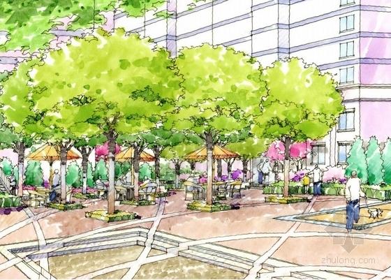 [南京]现代滨水城市居住区规划设计方案-滨水城市居住区景观效果图