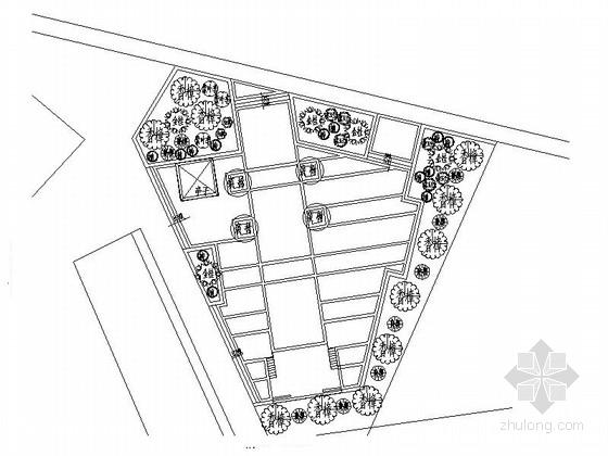某广场景观简易设计施工图