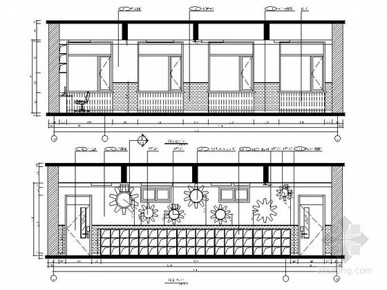 [原创]现代风格小学室内设计装修施工图(含高清效果)科技教室立面图