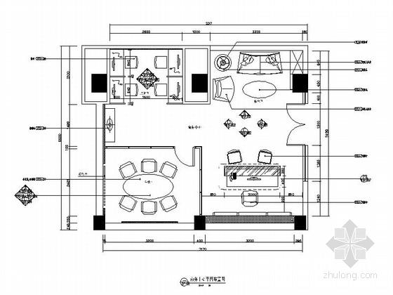 [江苏]大型欧式华丽酒店商务中心施工图