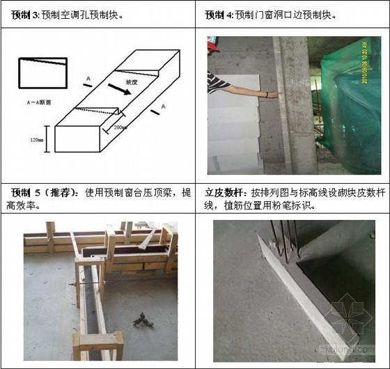蒸压加气混凝土砌块砌筑施工技术交底(多图)