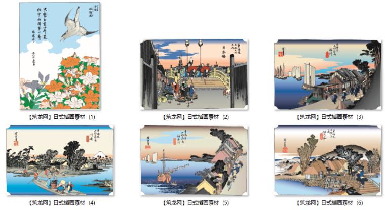 古典素材-日本插画素材(JPG,AI,CDR格式)