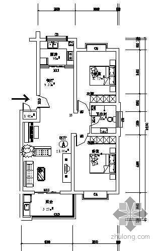 某两室两厅装修图纸