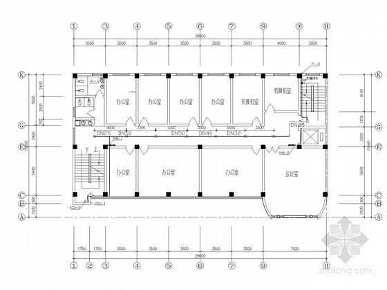 七层办公楼给排水消防施工图