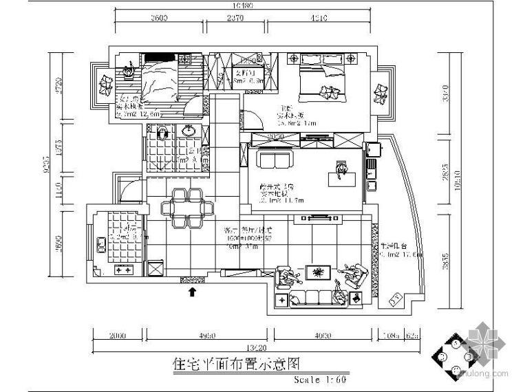 现代风格三室二厅装修图(含效果)
