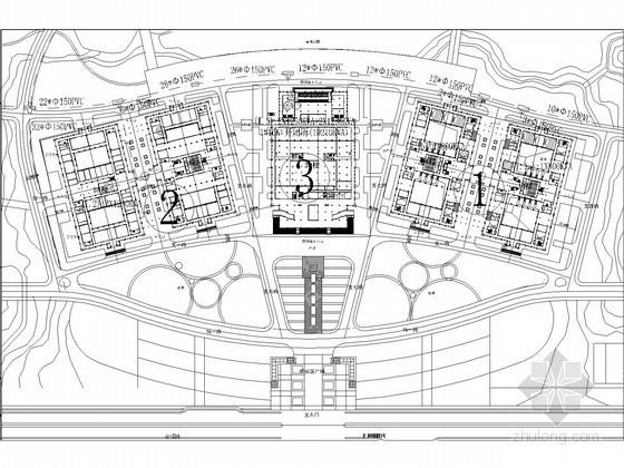[厦门]知名大学全套电气施工图纸(含系统图及计算书)