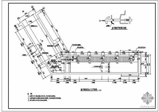 某地铁站出入口通道结构设计图
