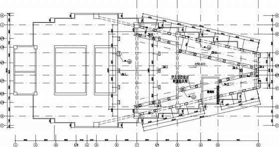 楼顶V型广告牌结构施工图