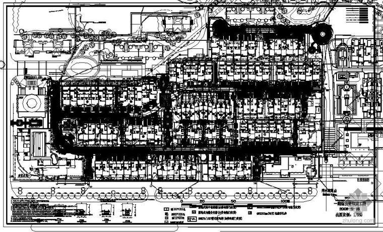 某公园综合管线平面图