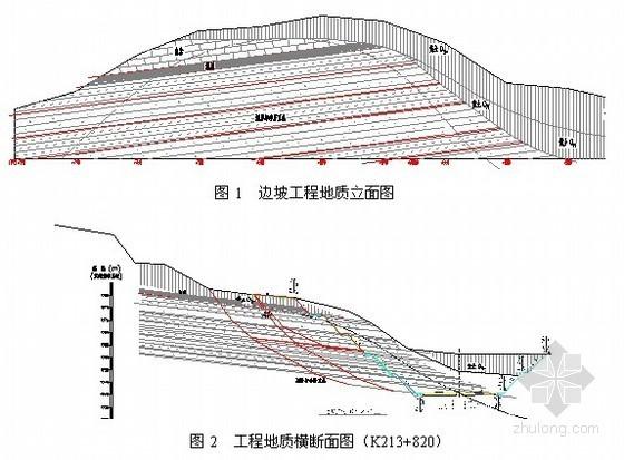 抗滑桩边坡锚喷支护资料下载-[山西]高速公路高边坡支护锚索抗滑桩施工技术方案