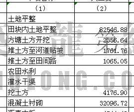 宝生村土地开发整理预算