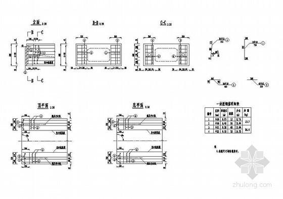 2×13米预应力混凝土空心板简支封锚端钢筋构造节点详图设计