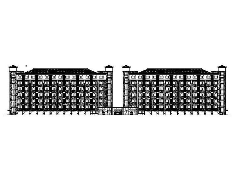 [浙江]大学简欧风格学生公寓施工图