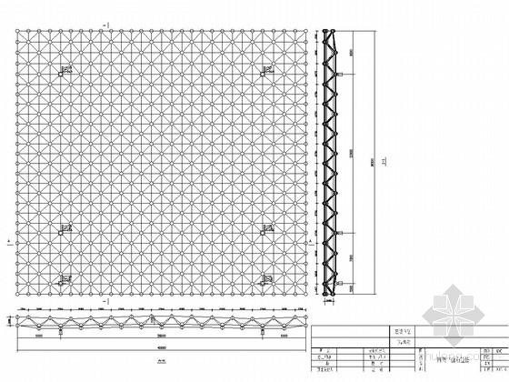 [浏阳]双层空间网架结构加油站结构图