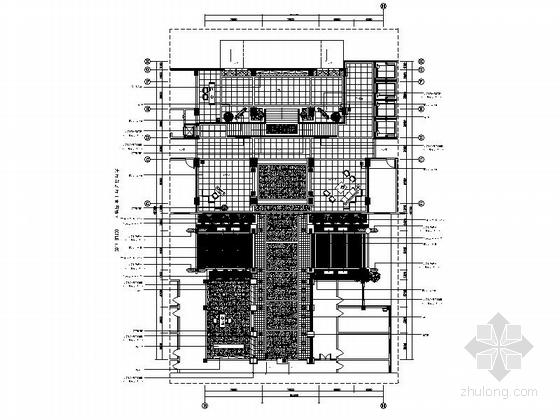 [重庆]典雅中式风格三级甲等中医院住院楼装修施工图