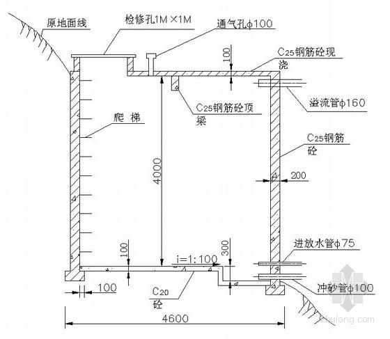 50方钢筋砼蓄水池设计详图
