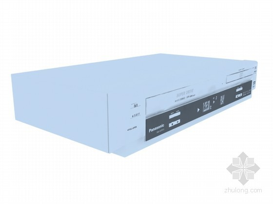 VCD播放器3D模型资料下载-超级播放器3D模型下载
