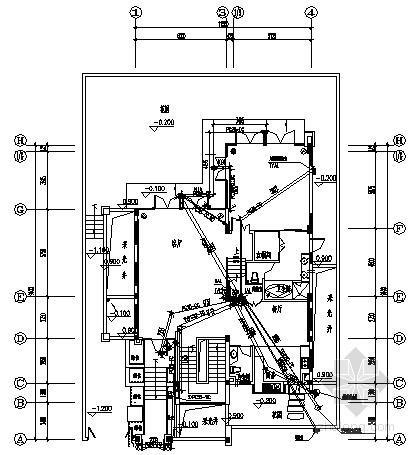 [海南]别墅建筑D型住宅电气施工预埋图