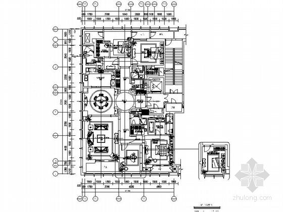 [山东]精装新古典豪华样板间装修施工图(含实景)