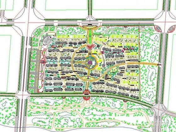 南方小区景观规划平面设计图