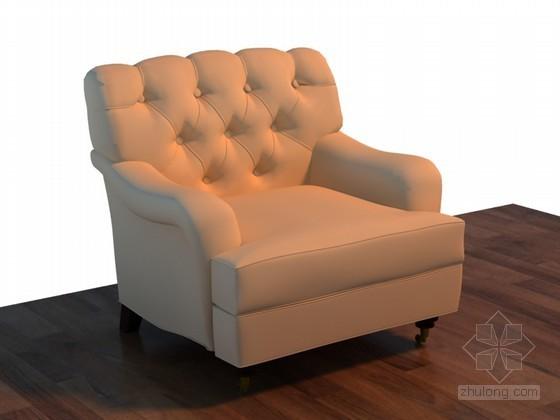 新古典沙发3D模型下载