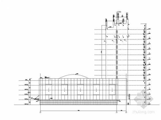 内蒙古17层公寓GRC幕墙施工方案图纸-立面图