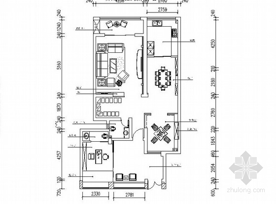 [乐山]某高端工作室设计作品新中式豪华3层别墅室内设计CAD施工图(含效果图)