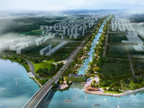 [江苏]绿色森林滨水景观绿廊规划设计方案