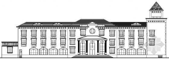 渡假村综合楼欧式建筑方案图