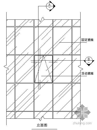 某吊挂式玻璃幕墙节点构造详图(十)(立面图)