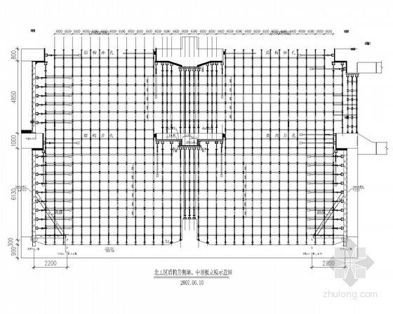 盾构地铁侧墙模板设计及支架搭设设计图