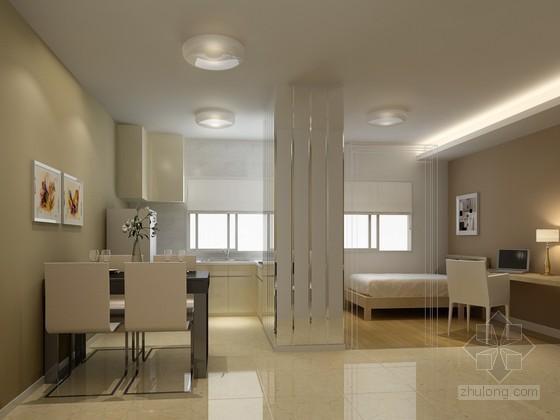 现代清新居室3D模型下载