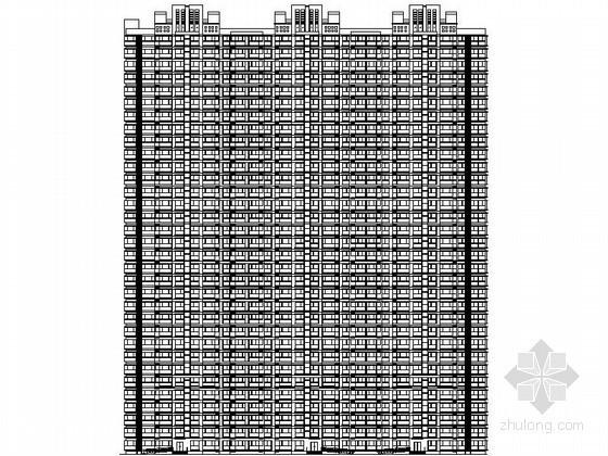 [石家庄]某三十三层一梯四连塔住宅楼建筑扩初图