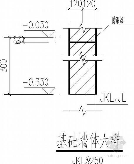 低层砌体结构基础节点详图