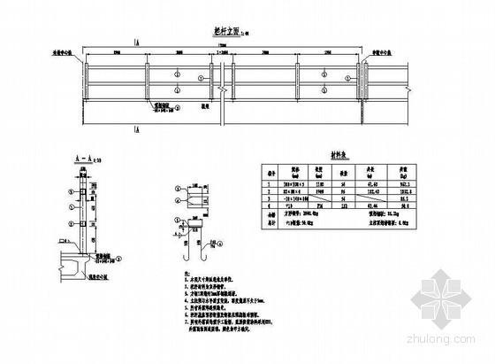 预应力混凝土栏杆详图设计资料下载-4×12米预应力混凝土空心板栏杆构造节点详图设计