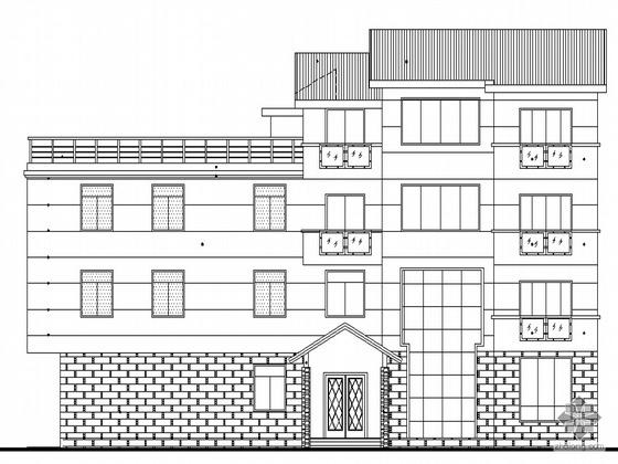 [陕西]某四层别墅建筑设计施工套图(带节能设计)